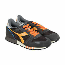 Diadora Titan II Mens Gray Leather & Textile Lace Up Sneakers Shoes