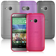 SLIM FITTED TPU GEL JELLY RUBBER CASE COVER SKIN FOR HTC ONE MINI 2 MOBILE PHONE