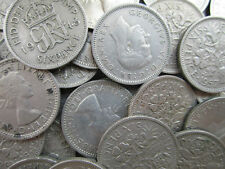 90 X 1947-1967 OLD SIXPENCES BULK COINS