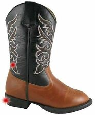 NEW SMOKY MOUNTAIN AUSTIN LIGHTS BROWN/BLACK WESTERN BOOTS CHILD SIZE 2.5 M