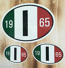 Italy Oldschool Youngtimer License Plate Sticker Oldtimer Retro Italy Vintage