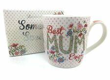 BEST MUM EVER Floral Mug With Gift Box Mother's Day Gift