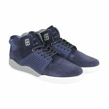 Supra Skytop III Mens Blue Suede High Top Lace Up Sneakers Shoes