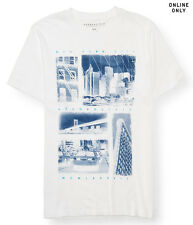 aeropostale mens new york city images graphic t shirt white