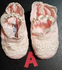 BABY BEAU & BELLE Lovely Girl's Crib Shoes or Booties 0-3M  3-6M  6-9M  9-12M