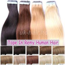 "Skin Weft Tape In 100% Real Remy Human Hair Extensions 20pcs 40pcs 16""-24"" I422"