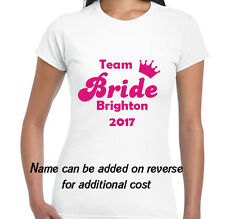 LADIES HEN DO *NIGHT* PARTY * PERSONALISED  T SHIRT* team bride