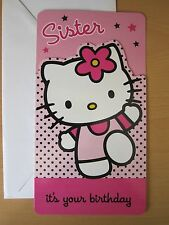 Hello Kitty Birthday Cards OR Giftwrap - Age or Sister Designs + FREE P&P