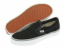 Original Vans Classic Slip On Canvas Black/White Skateboarding Shoes VN000EYEBLK