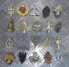 Genuine British Army Military Issue Metal Regimental Hat / Cap / Badges Asst