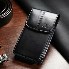 Executive Business Cell Phone Pouch Holder Belt Clip Loop Vertical Case Black