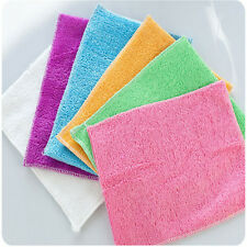 Dish cleaning cloth bamboo fiber dish washing towel Kitchen cleaning cloth J8
