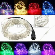 2M/5M/10M 180/50/100LEDs Silver Wire Xmas Outdoor String Fairy Party Light 12V