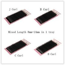 Beauty7 Mixed Length 8-14mm Mink Tray Black Silk False Lash Eyelash Extensions