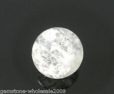 Wholesale White Crackle Glass Round Beads 8mm Dia.