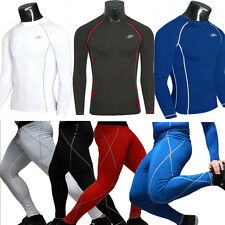 Men's Compression Skin Tops Tight Fitness Base Layer Gym Shirts/Pants Leggings