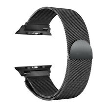 Milanese Mesh Loop Magnetic Stainless Steel Strap Wrist Band for Apple Watch 1 2