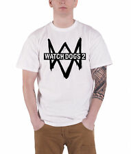 Watch Dogs 2 T Shirt game Logo new Official PS4 Xbox Mens White