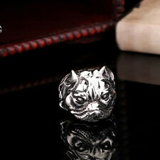 New Style Mens Jewelry Dog 316L Stainless Steel Ring HB146 Multi-size