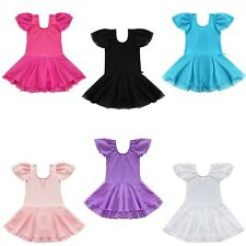 Kid Girl Gymnastics Ballet Dance Tutu Dress Leotard Skirt Costume Dancewear 2-14