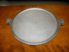 "Used Very Good Condition Guardian Service Cast Aluminum 15 ½"" serving tray pizza"