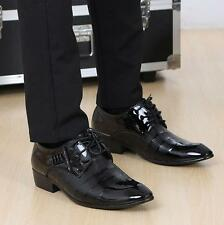 Fashion Mens Oxfords pointy toe lace up Wedding Business Dress Formal Shoes new