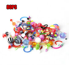 Colorful Body Piercing Jewelry Tongue Lip Eyebrow Nose Barbell Ear Rings
