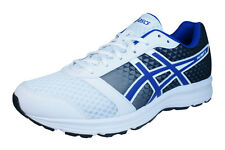 Asics Patriot 8 Mens Running Trainers / Shoes - White Blue