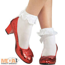 Dorothy Ruby Red Slippers Shoes Fancy Dress Wizard of Oz Ladies Costume Shoes
