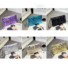 2017 Women Lady PU Leather Clutch Wallet Card Holder Purse Handbag Envelope Bag