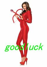 Unisex Red Spandex Sexy Bodysuit Zentai Suit One piece Jumpsuit free shipping