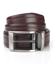 New Geoffrey Beene Soft Touch Casual To Dress Reversible Black Brown Belt