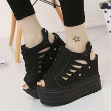 Womens lady Platform Wedge Sneakers Super High Sport Sandals Creepers Shoes