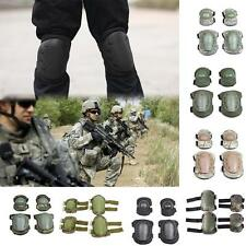 Quality 4Pcs Knee Elbow Protective Pad Gear Sports Tactical Airsoft Combat Skate