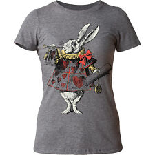 Alice's Adventures In Wonderland White Rabbit Juniors T-Shirt Tee