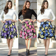 Ruiyige Rose Floral Vintage Full Circle High Waist Knee Length Midi Skirt Dress
