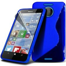 S Line Wave Gel Skin Case Cover & Screen Protector For Microsoft Lumia 950