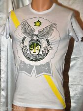 Four One 414 Slim Fit T-Shirt R Neck White Pattern Eagle Short sleeve S-L New