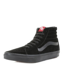 Mens Vans Sk8 Hi Black Black Suede Casual Leather High Top Trainers Sz Size