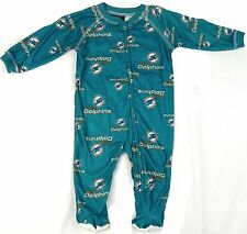Miami Dolphins Infant Coverall NFL Football Baby Full Footed Sleeper Pajamas