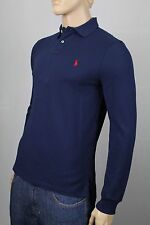 Polo Ralph Lauren Navy Blue Custom Fit Mesh Long Sleeve Shirt NWT