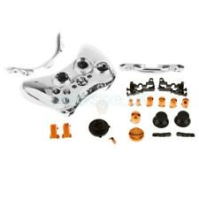 Silver Case Shell Cover + Buttons for Microsoft XBox 360 Wireless Controller
