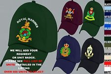 UNITS A TO D UK & FOREIGN ARMY ROYAL AIR FORCE NAVY REGIMENT BASEBALL CAP HAT