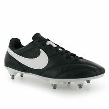 Nike Tiempo Premier Soft Ground Mens Football Boots Black/White Soccer Footwear