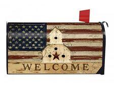 Country new magnetic AMERICANA flag welcomr design outdoor mailbox cover / NICE