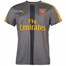 Puma Arsenal FC Stadium Football Training Jersey Mens Grey Football Soccer