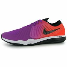 Nike Dual Fusion Print Running Shoes Womens Violet/Black Run Trainers Sneakers