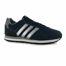 adidas 10k Suede Running Shoes Mens Navy/Silver Trainers Sneakers Sports Shoes