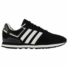 adidas 10k Running Shoes Mens Black/Whit/Silver Trainers Sneakers Sports Shoes