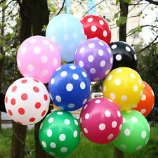 "25-100pc 12"" Colorful Polka Dot Latex Balloons Party Holiday Decoration Helium"